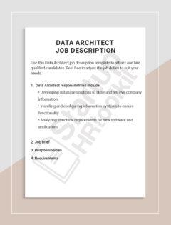 Data Architect job description