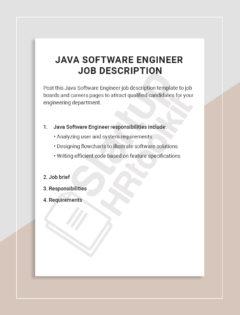 Java Software Engineer job description