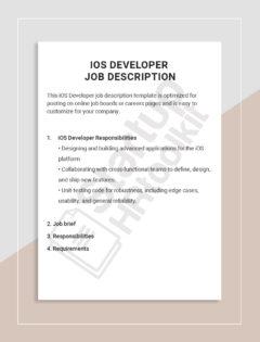 iOS Developer job description